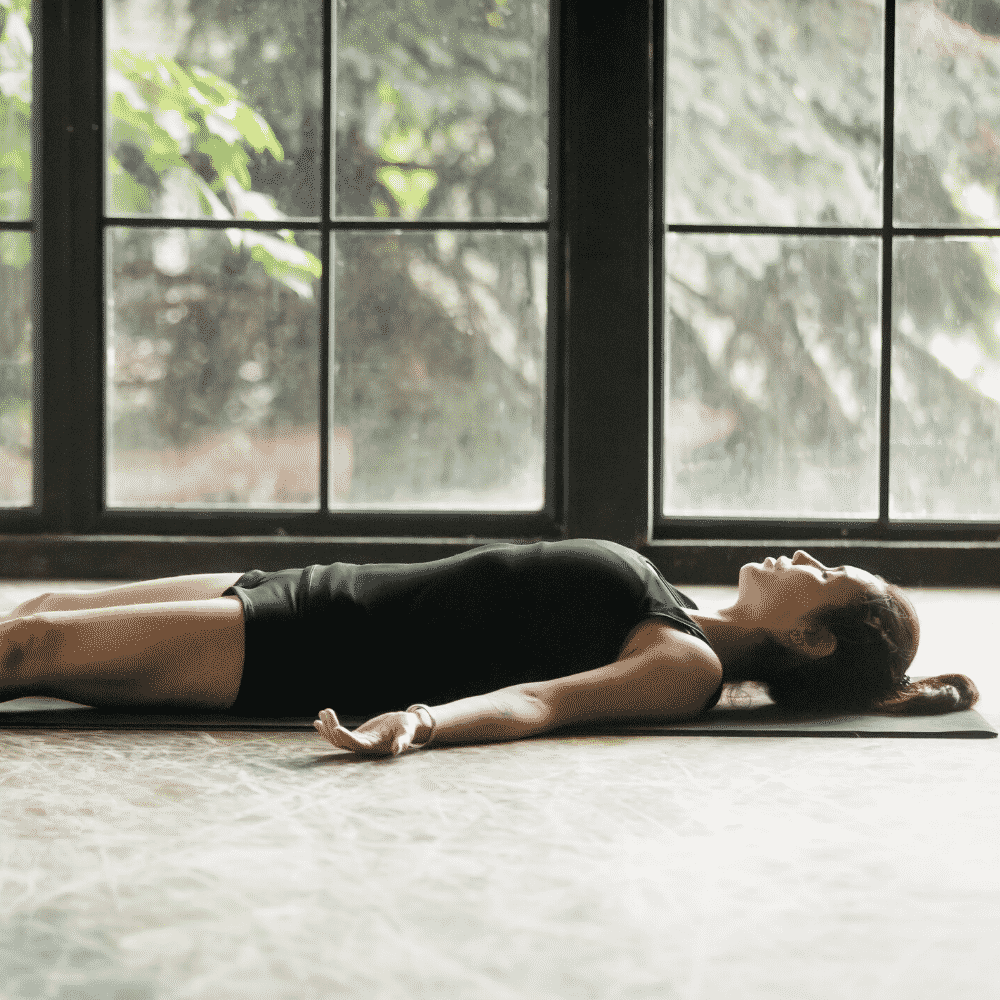 Corpse Pose - Step 6 of the the 15 minute fertility yoga workout