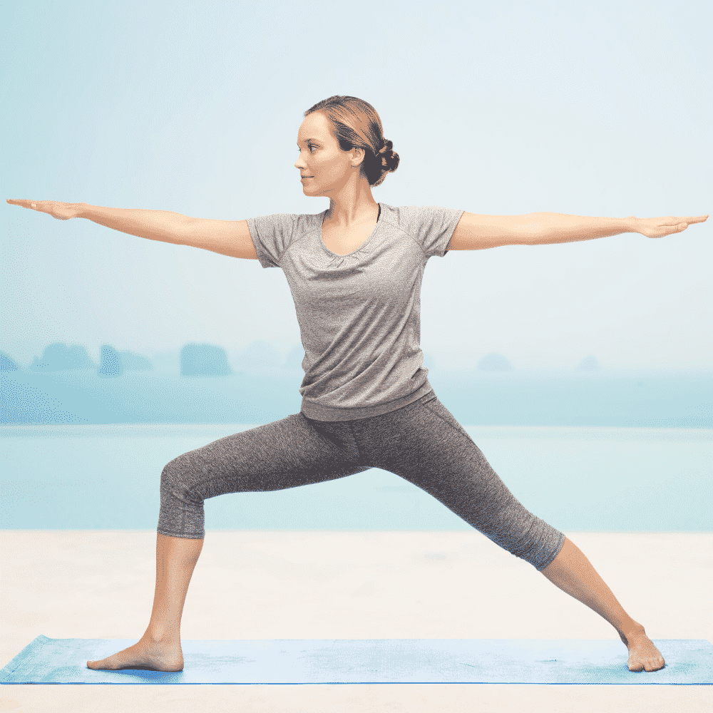 Warrior Yoga Pose - Step 4 of the 15 minute fertility yoga workout