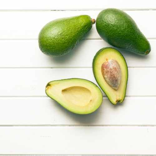 Avocado adds smoothness and good fats to the pineapple fertility smoothie