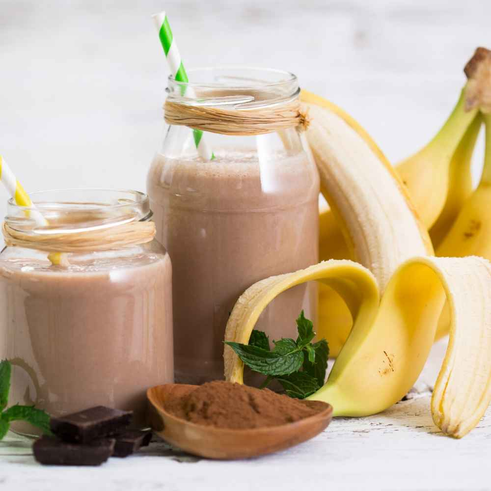 This chocolate & Maca fertility smoothie is great to help you recover from a workout