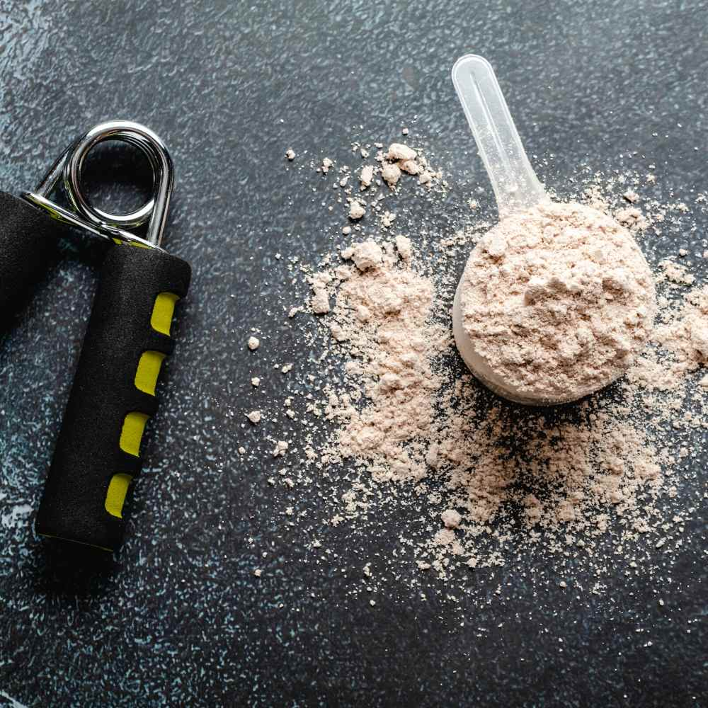 The protein powder helps add the malt flavor profile whilst also helping aiding recovery post workout