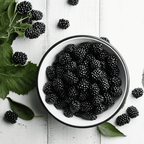 Blackberries are the key ingredient in our purple power fertility smoothie
