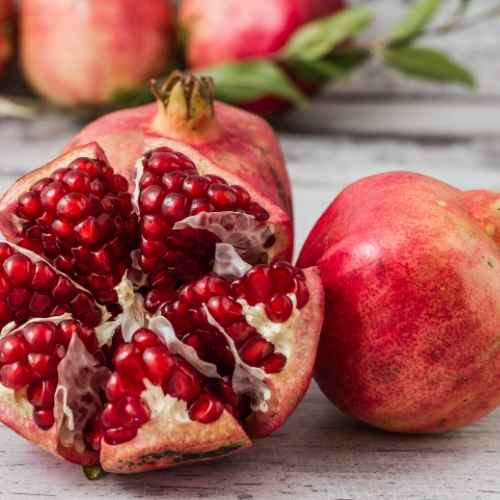 pomegranate are a key ingredient of the mixed fruit fertility smoothie which are packed full of antioxidants